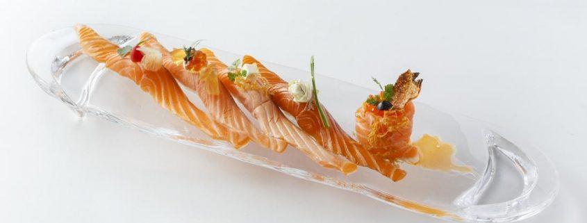 Sushi elaborado con salmón noruego. Imagen: mardenoruega