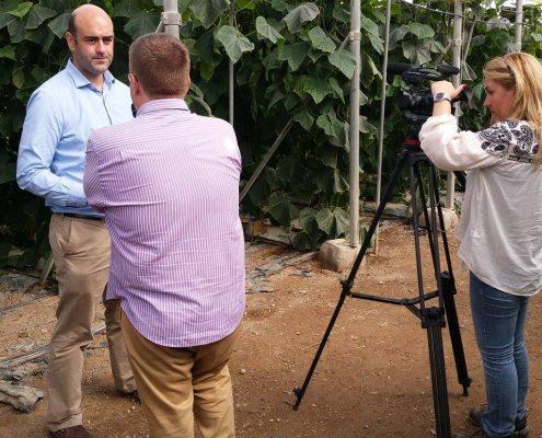 Una delegación de periodistas europeos visita Almería de la mano ECPA. Foto: AEPLA