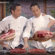 Imagen de uno de los vídeos promocionales, protagonizados por los hermanos Torres, dentro de una campaña para la promoción del jamón ibérico de la patronal ASICI.