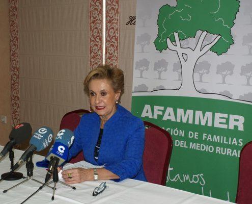 Carmen Quintanilla, presidenta de Afammer. Imagen: Afammer.