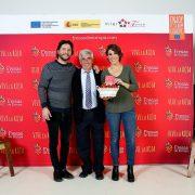 El cantante Manuel Carrasco; el presidente de INTERFRESA, Alberto Garrocho, y la respostera y bloguera, Alma Obregón. Foto: Interfresa.