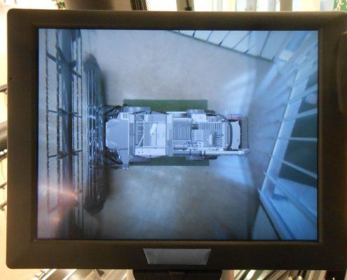 Sistema de visión periférica en cosechadoras Massey Ferguson. Imagen: Massey Ferguson.