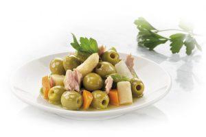 Aceitunas verdes con espa¦ürragos