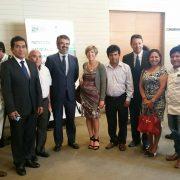 MC Galera con empresarios peruanos