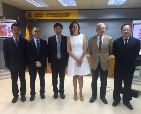 Visita Delegación China a Consejería Agua, Agricultura y MA de Murcia