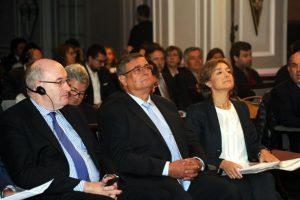 Phil Hogan, Manuel García e Isabel García Tejerina.