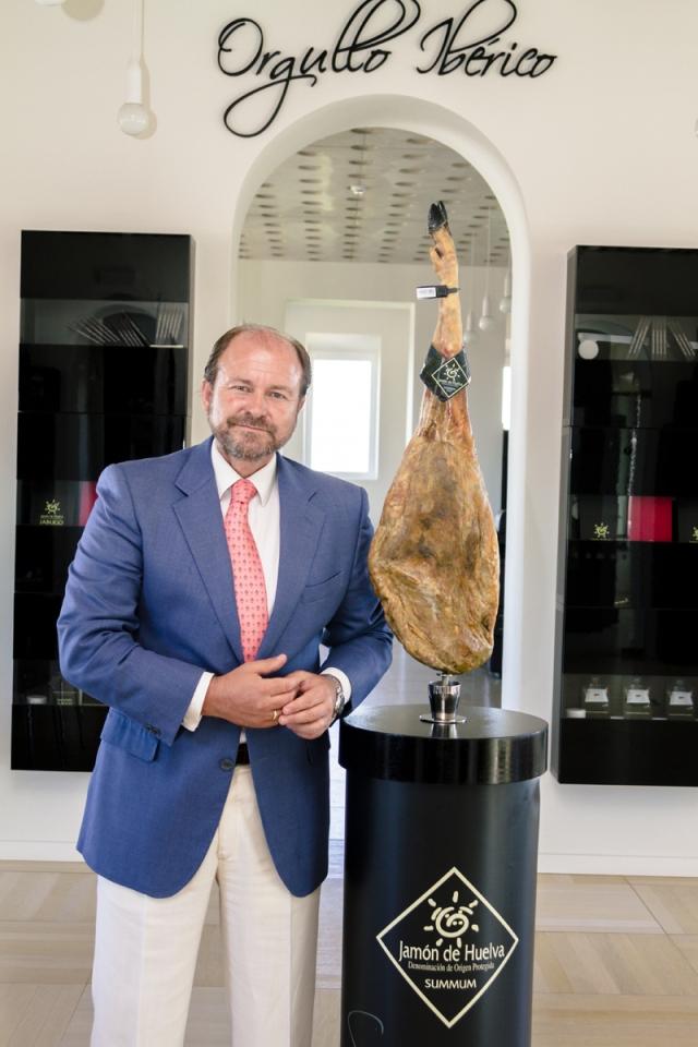 El presidente del CRDO de Jamón de Huelva.