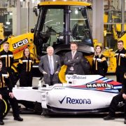 Pictured is JCB Chairman Lord Bamford pictured with JCB apprentices (l-r) Kyle Hare , Charlie Trotter, Jade Holmes, Chelsea Saunders, James Mohan and Daniel Malbon at the announcement of the new partnership agreement between JCB and Williams Martini RacingDate. 22.02.17
