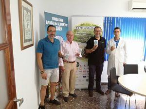 Representantes de Fendt y del Banco de Alimentos de Jaén.