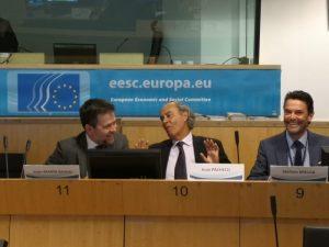 Juan Marín, presidente de EUCOFEL; durante su intervención en la Comisión Europea