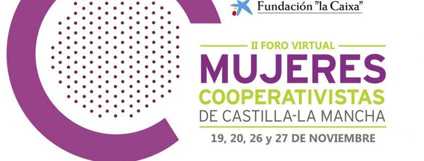 Cartel II Foro Mujeres Cooperativistas de Castilla La Mancha